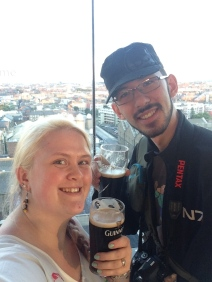 What a fascinating experience, and then it ends with learning how to pull your own pint and getting to enjoy that pint up in the Gravity Bar, with a 360° view of the Dublin Skyline.